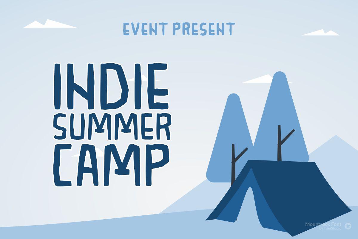 Mountrock - Summer Camp Font example image 2