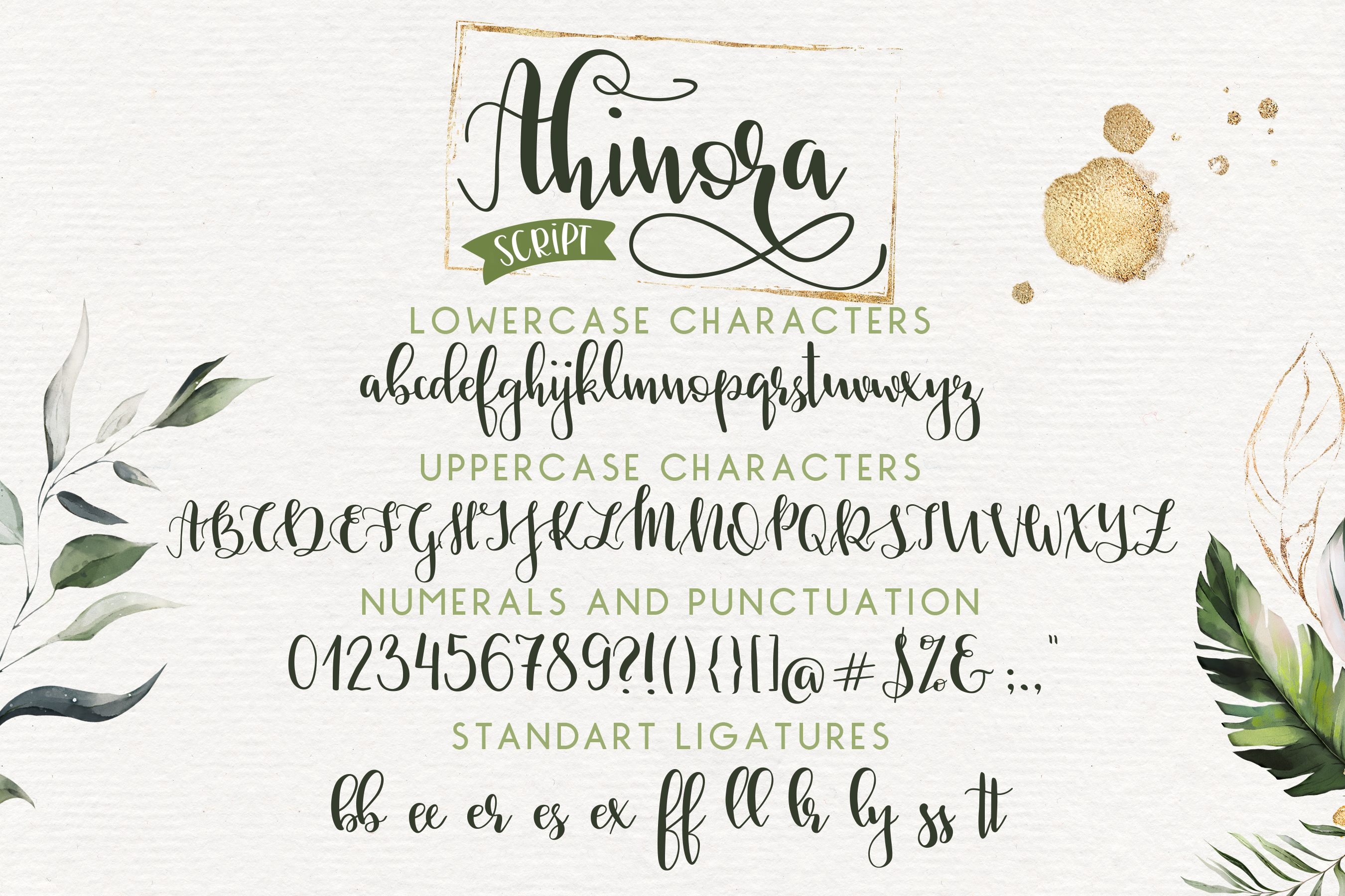 Ahinora - Font Duo with Doodles example image 2