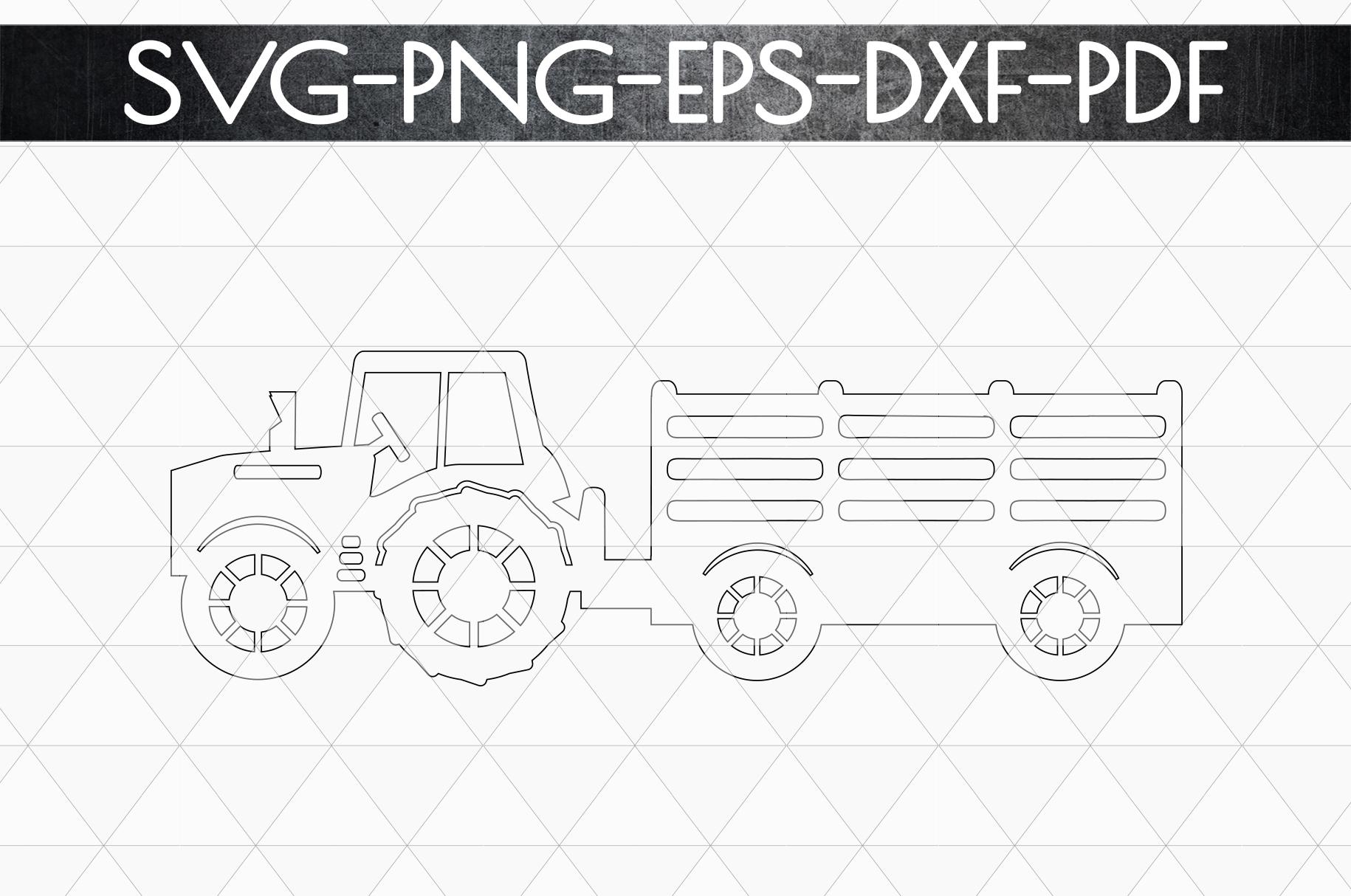 Farm Tractor Papercut Template, Farmhouse Decor, PDF, SVG example image 5