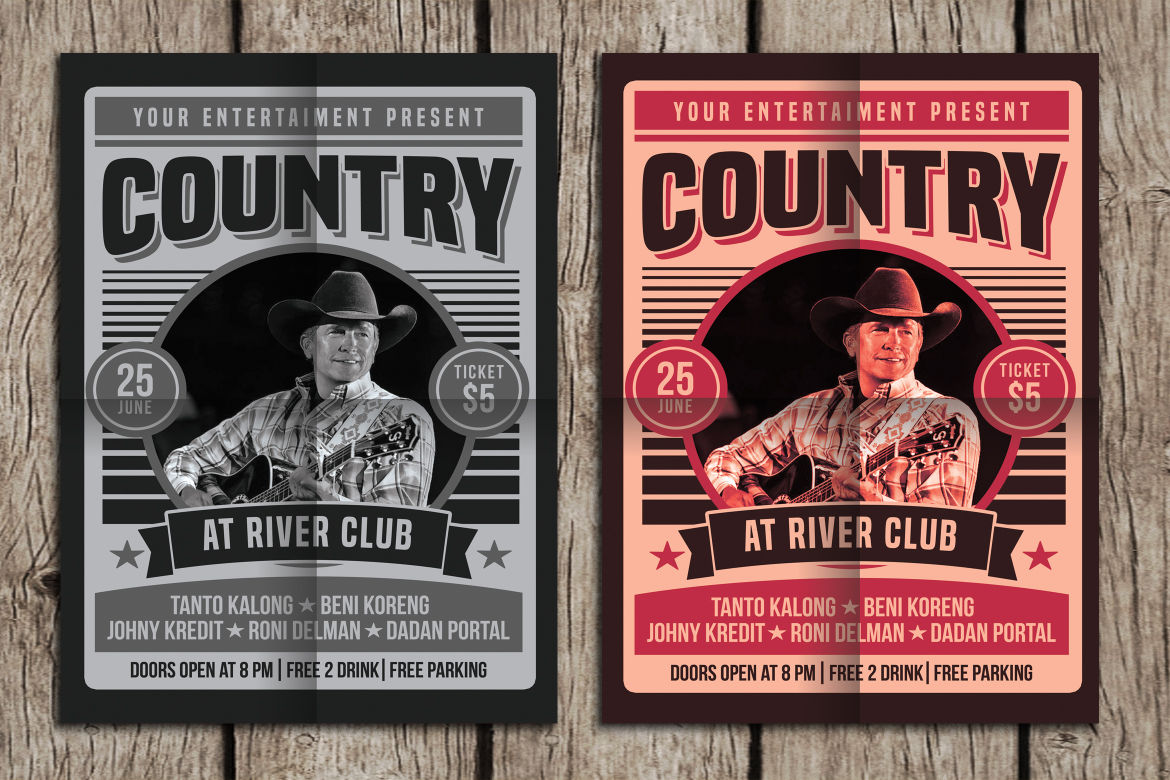 Country Music Poster Flyer example image 1