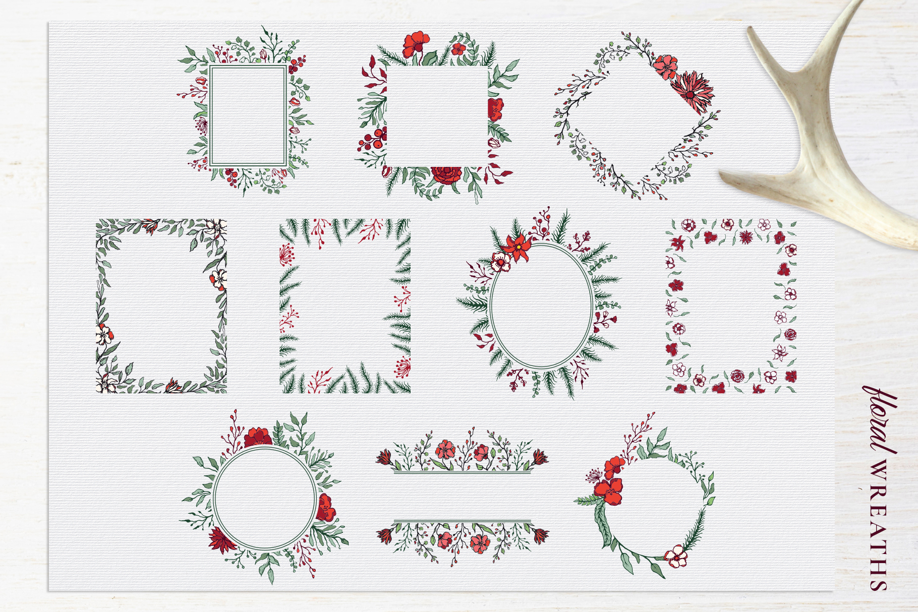 Winter Floral Patterns & Illustrations example image 11