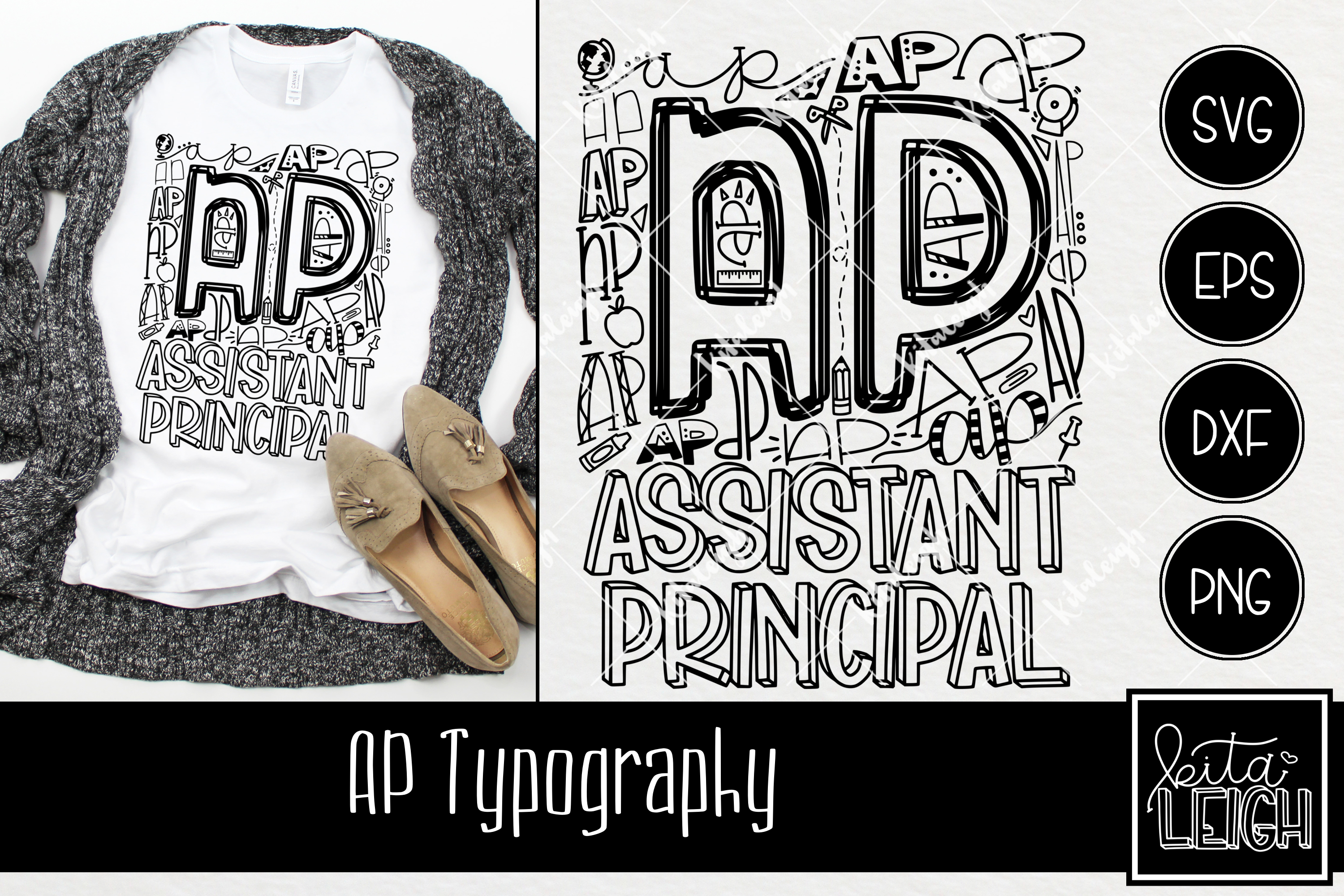 Assistant Principal AP Typography example image 1