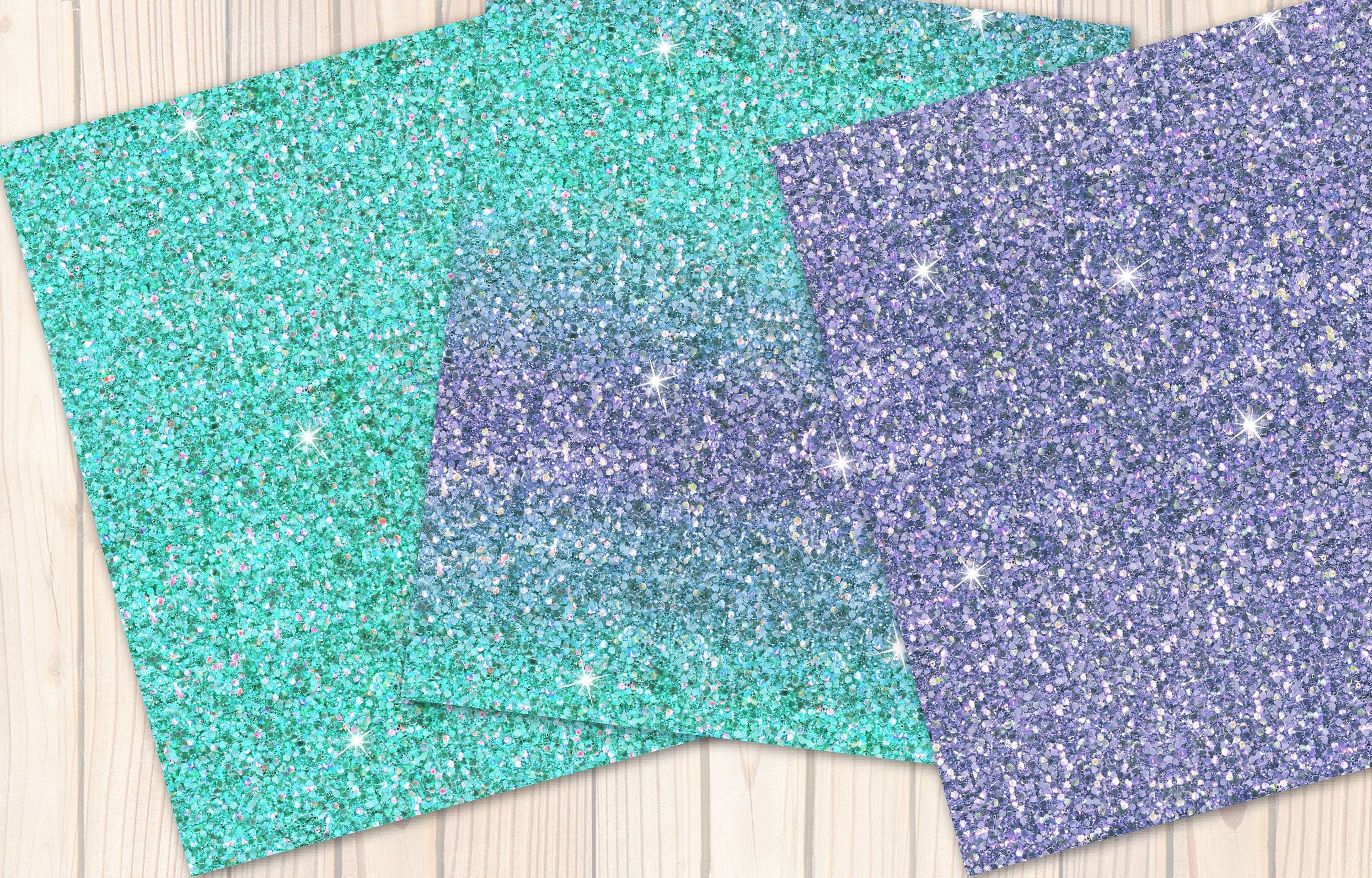 Mermaid seamless Glitter backgrounds example image 4
