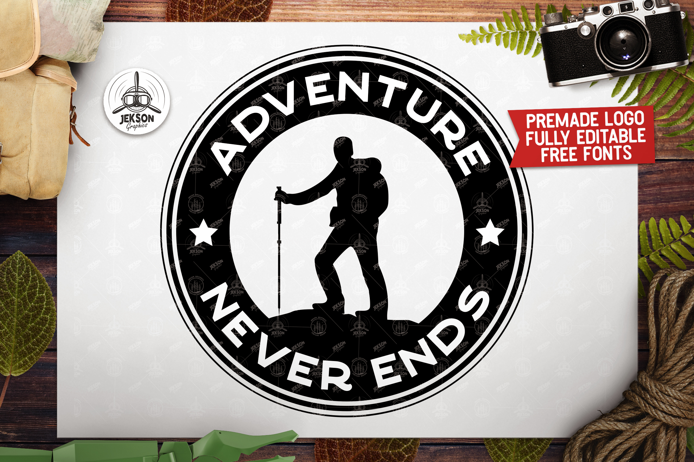 Retro Adventure Badge, Camp Vector Logo Label SVG Cut File example image 1