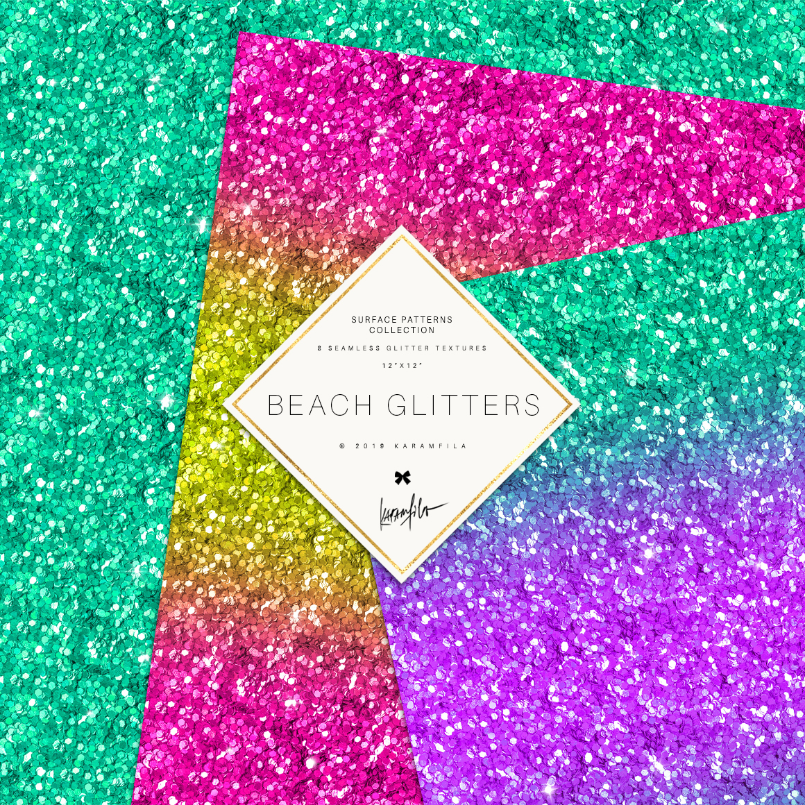Glitter Waves Patterns example image 3