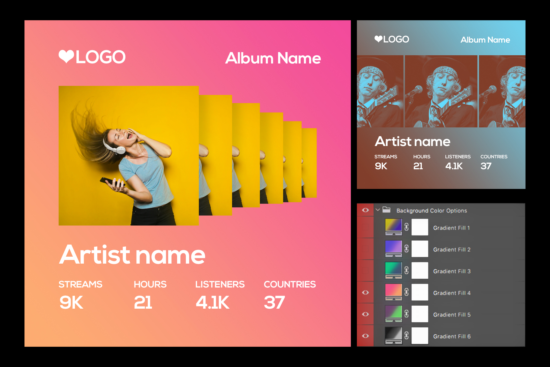 Spotify Style Photo Template example image 2