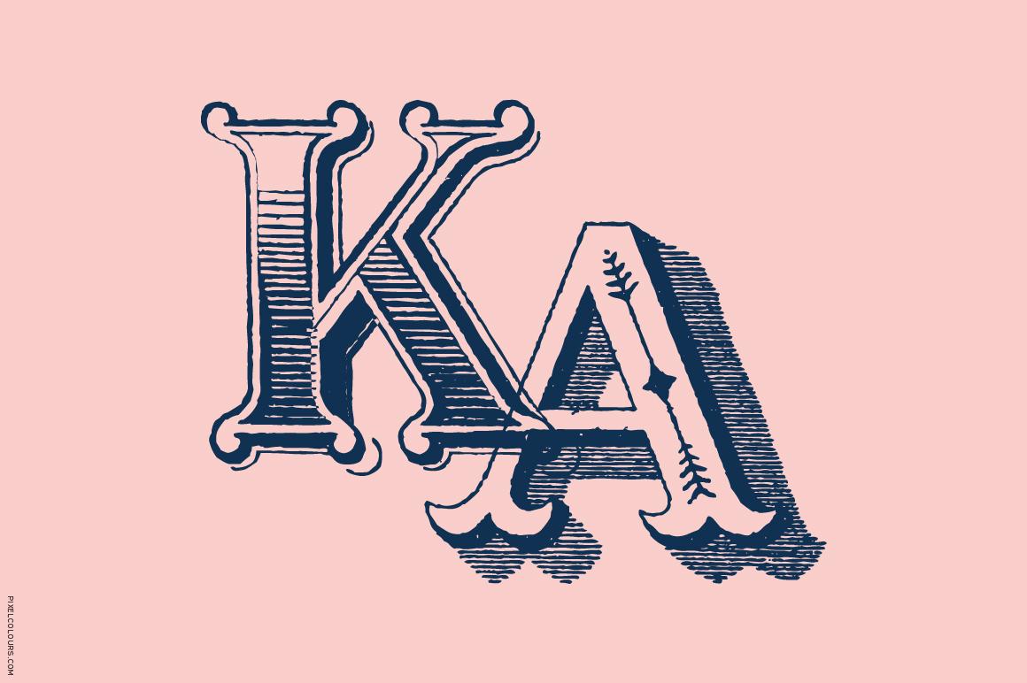 Antique Ornaments Alphabet Font example image 5