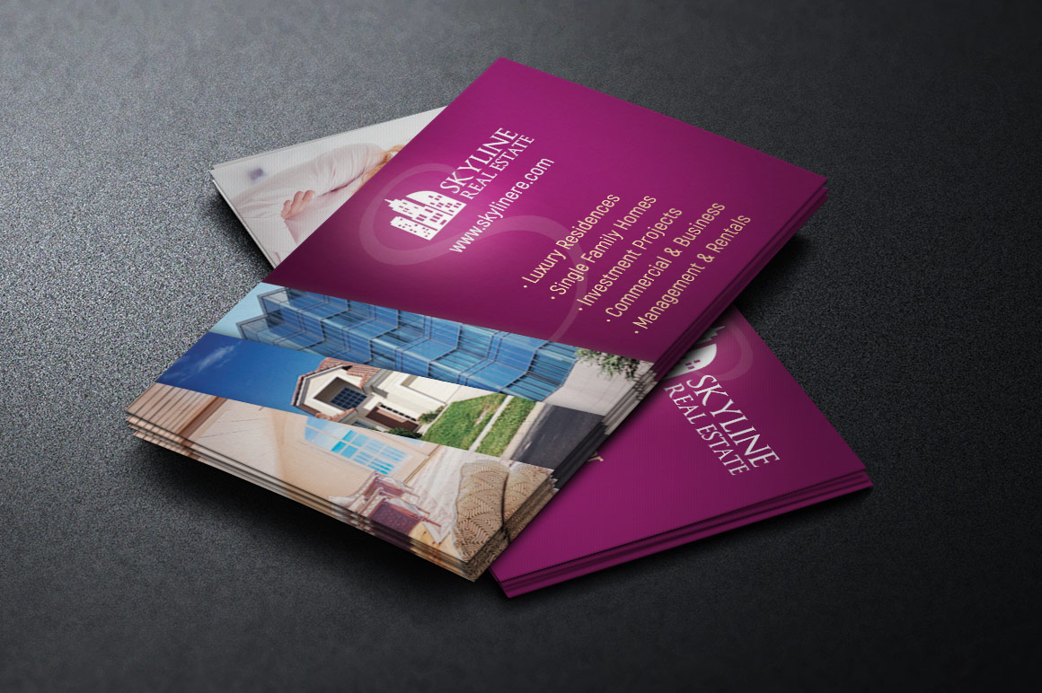 Real Estate Business Card Template example image 2