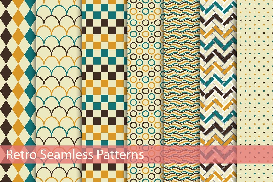 Retro patterns - seamless. example image 1