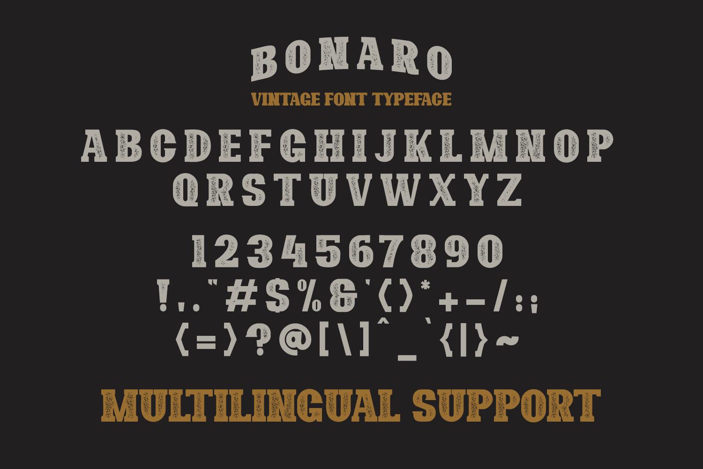 10 Font - Bonaro Font Family example image 6