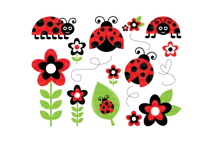 Lady Bugs-Digital Clipart (LES.CL09A) example image 1