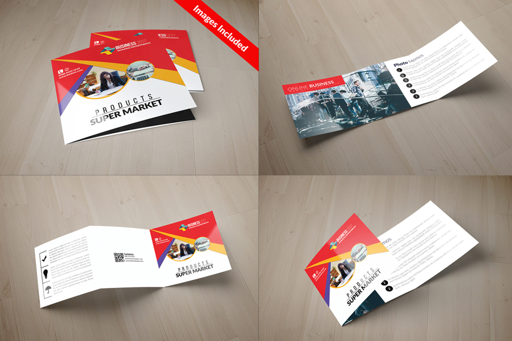 25 Square Trifold Business Brochures Bundle example image 6