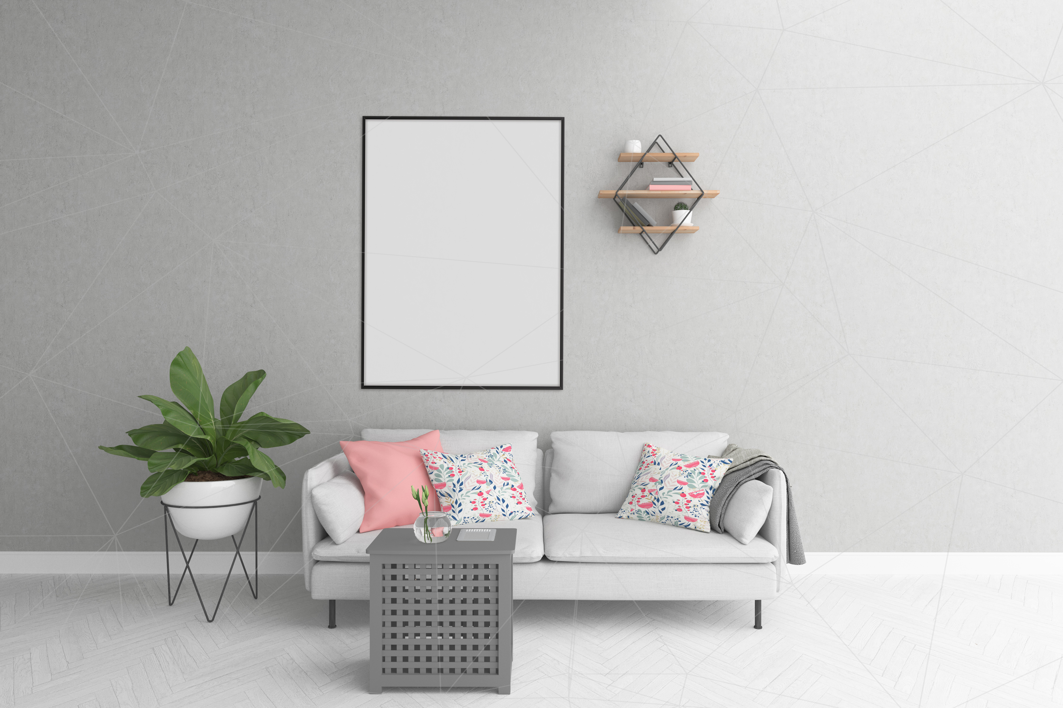 Vertical frame mockup - smart object example image 1