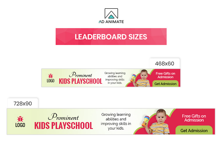 Kids Playschool Animated Ad Banner Template - EI002 example image 4
