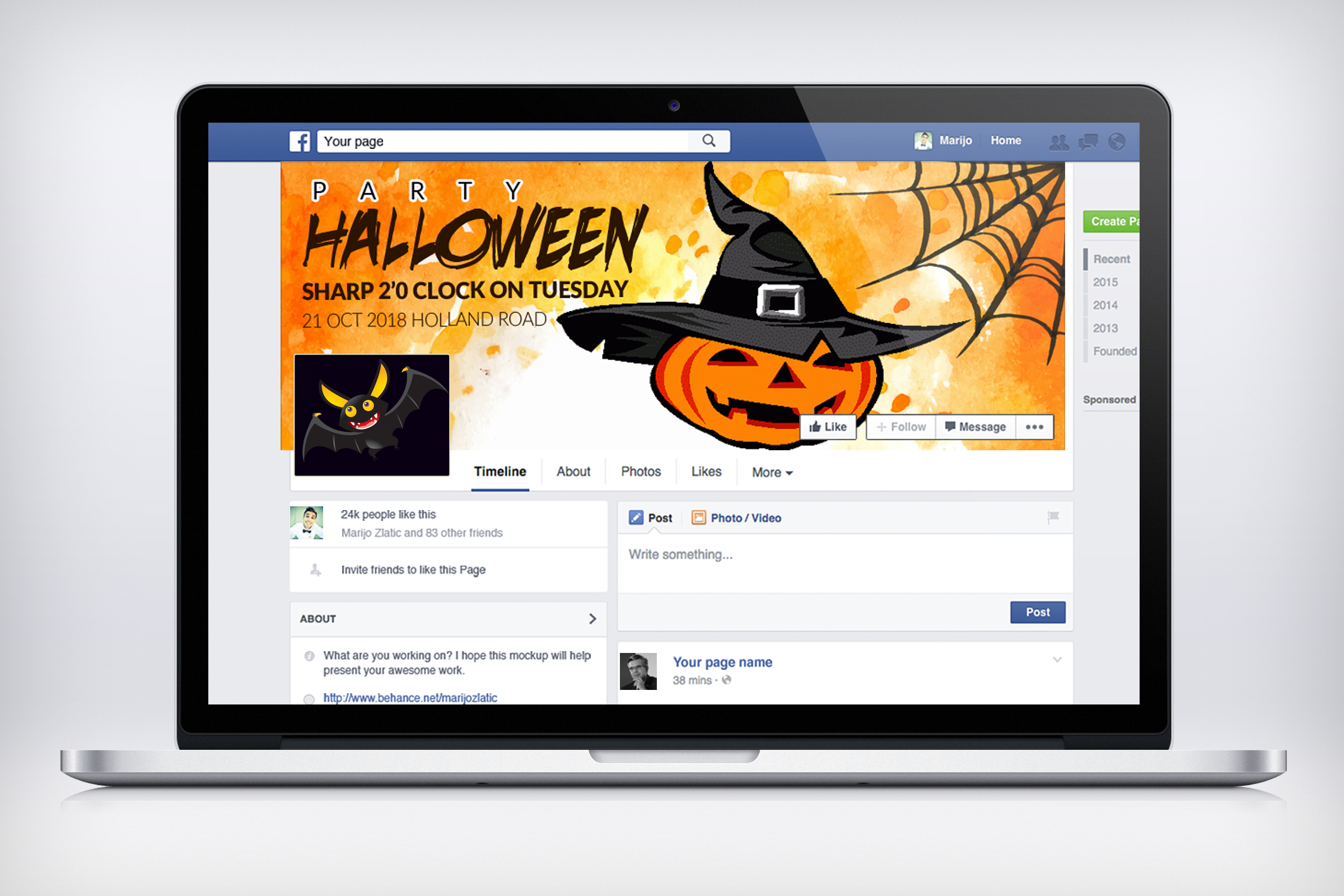 Halloween Party Facebook Timeline Cover example image 3