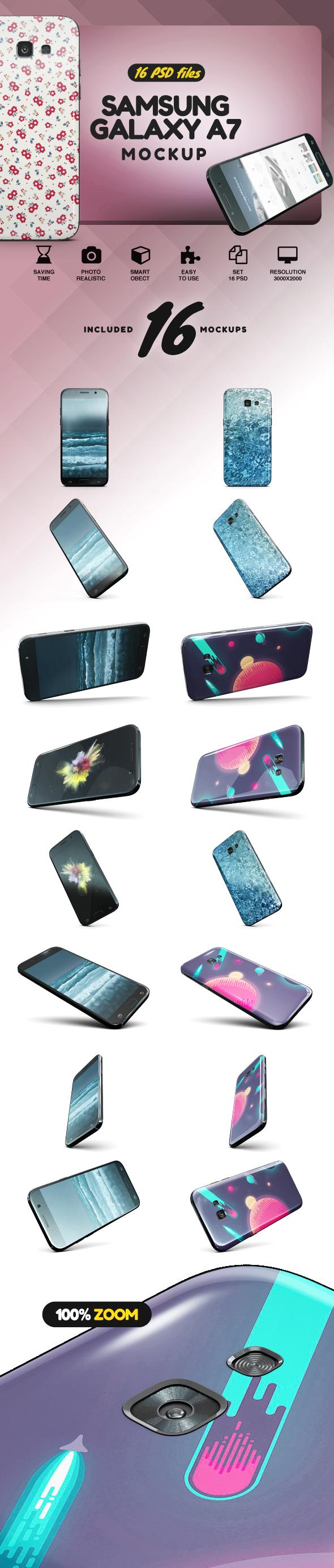 Samsung Galaxy A7 Mockup example image 2