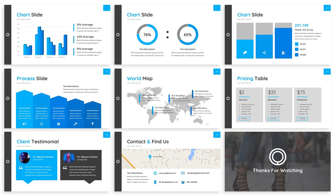 Huffre - Design Powerpoint Template example image 4