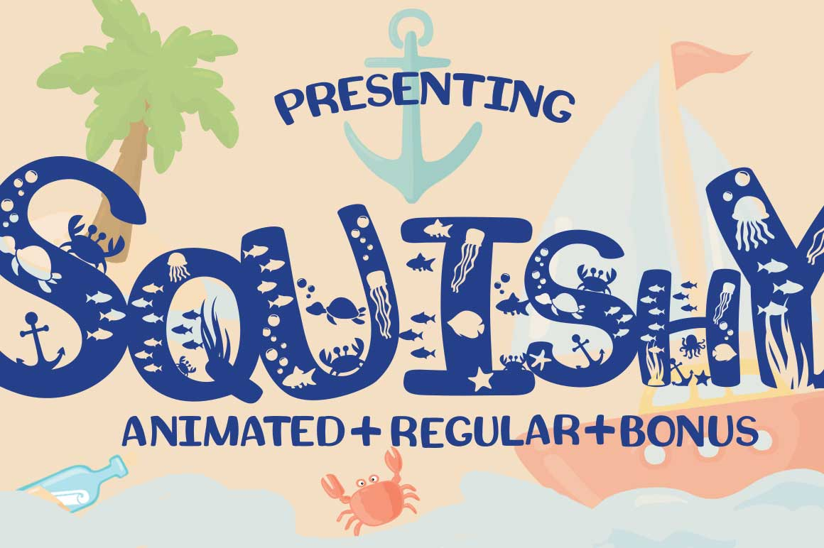 Squishy Craft Font for Beach & Summer Designs with Bonus example image 1
