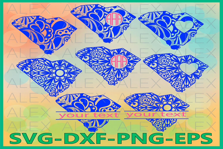 South Carolina State SVG, South Carolina Mandala SVG example image 1