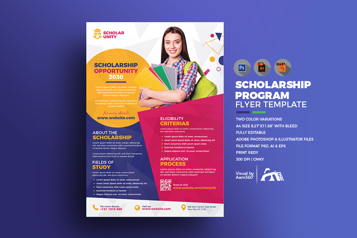 Scholarship Program Flyer Template example image 1