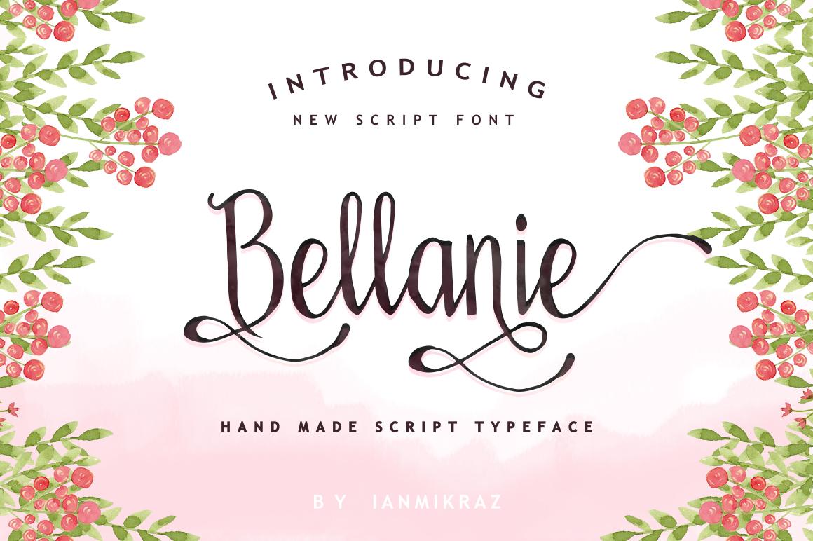 Bellanie Script example image 1