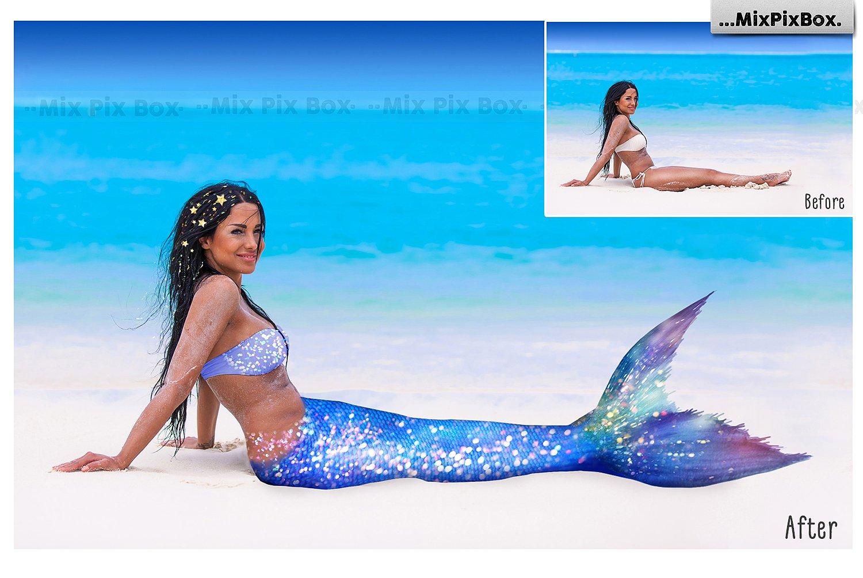 35 Mermaid Tail Overlays example image 3