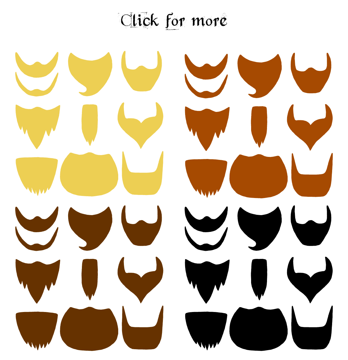 Hand drawn Beards and mustaches example image 5