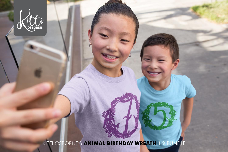 Animal Birthday Wreath 1-9 Bundle example image 4