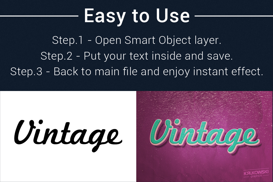 Vintage Old Text Effects Mockup example image 2