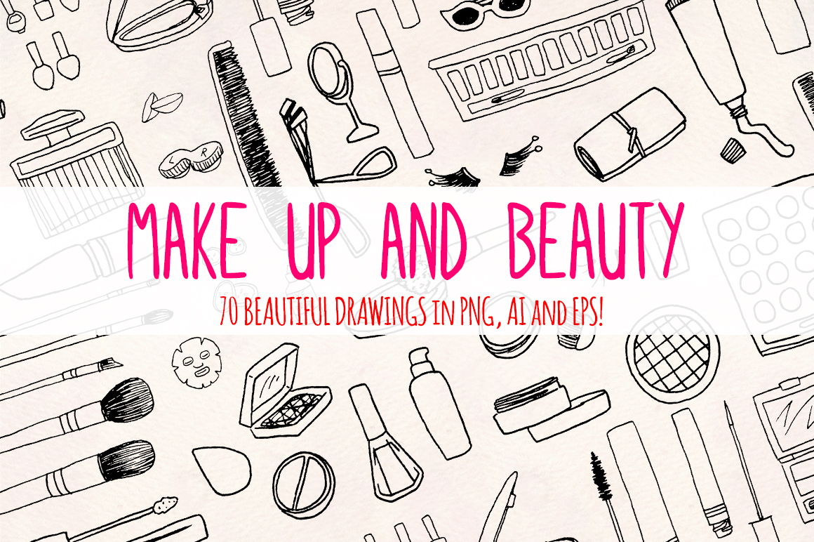 70 Cosmetics, Make Up and Beauty Blogger Vector Graphics example image 1