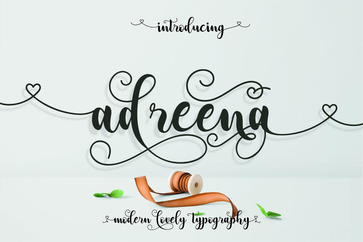 Adreena Lovely Font example image 1