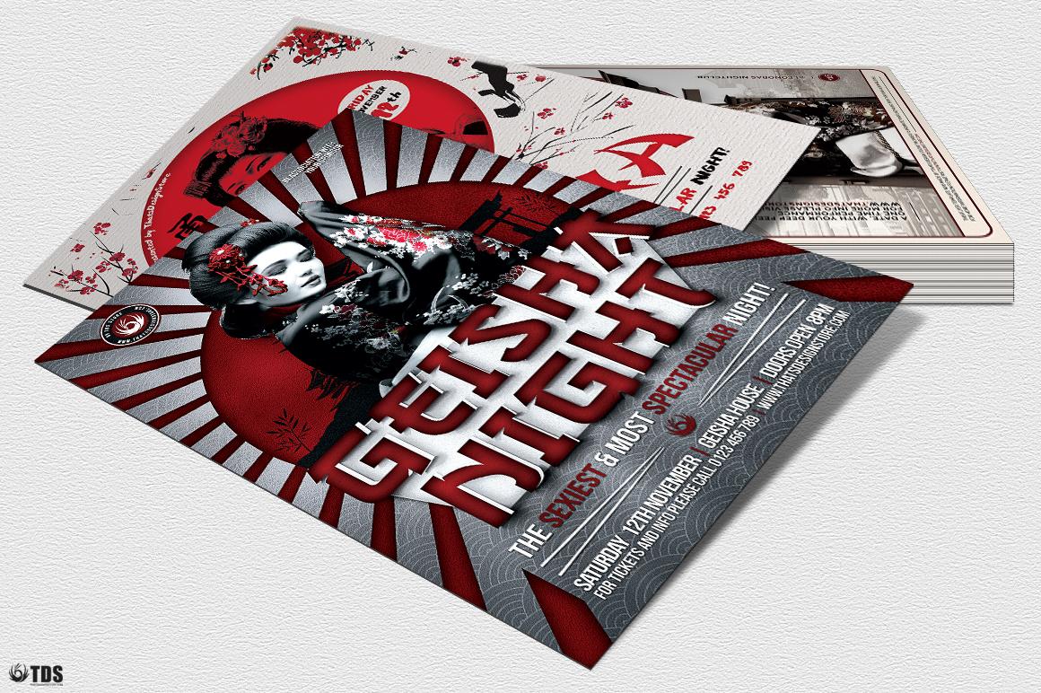 Geisha Party Flyer Bundle V2 example image 7