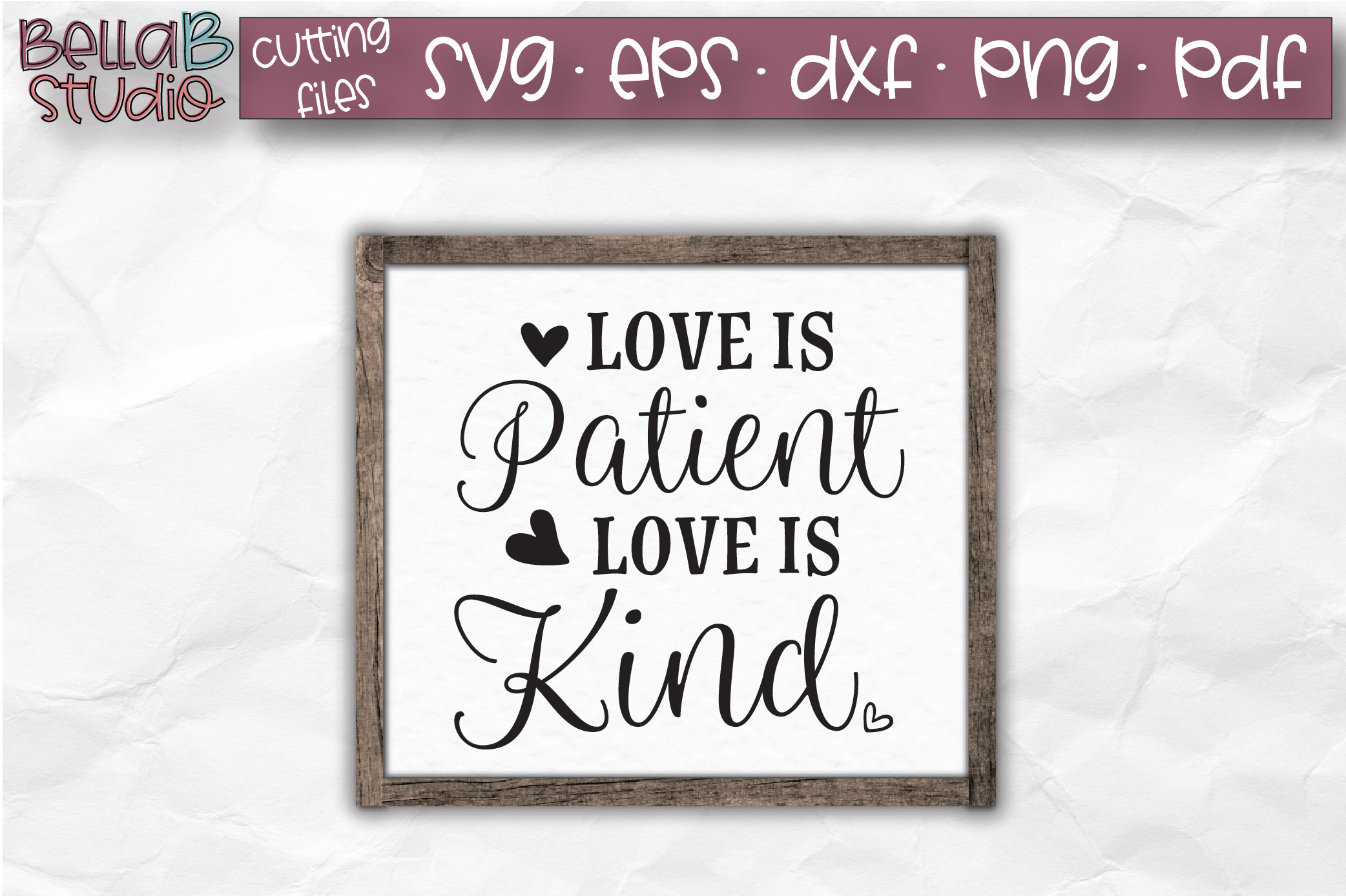 Love Is Patient Love Is Kind SVG, Christian SVG, Bible Verse example image 1