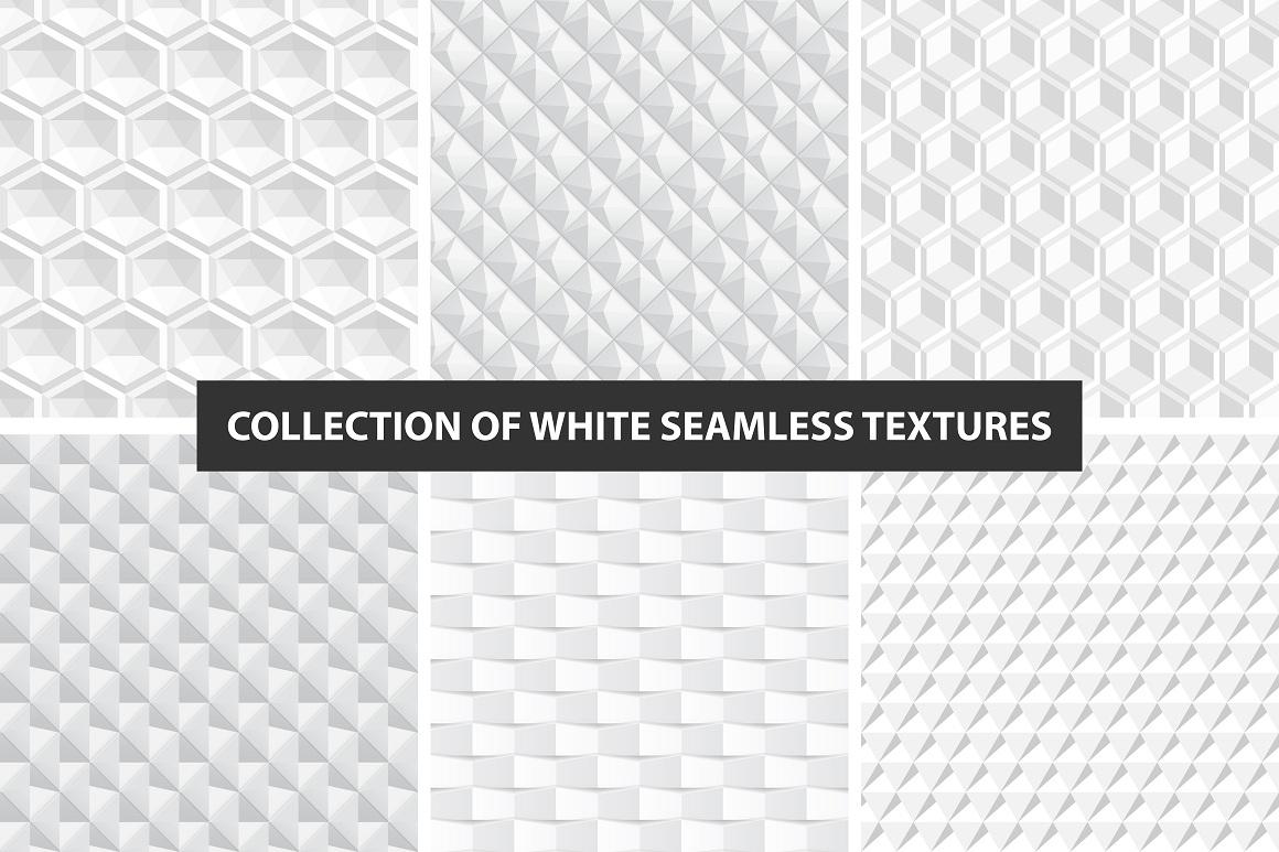 Decorative white seamless textures example image 1