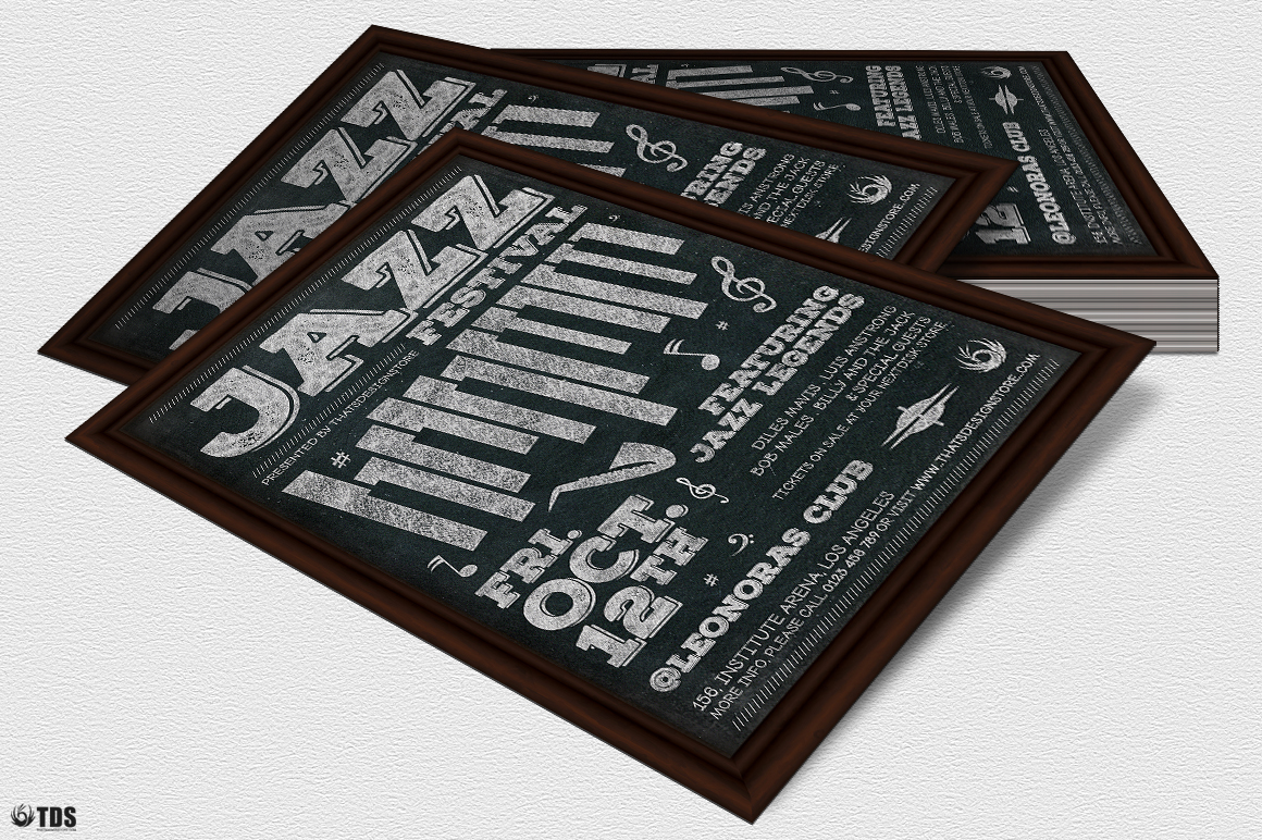 Jazz Festival Flyer Template V7 example image 4