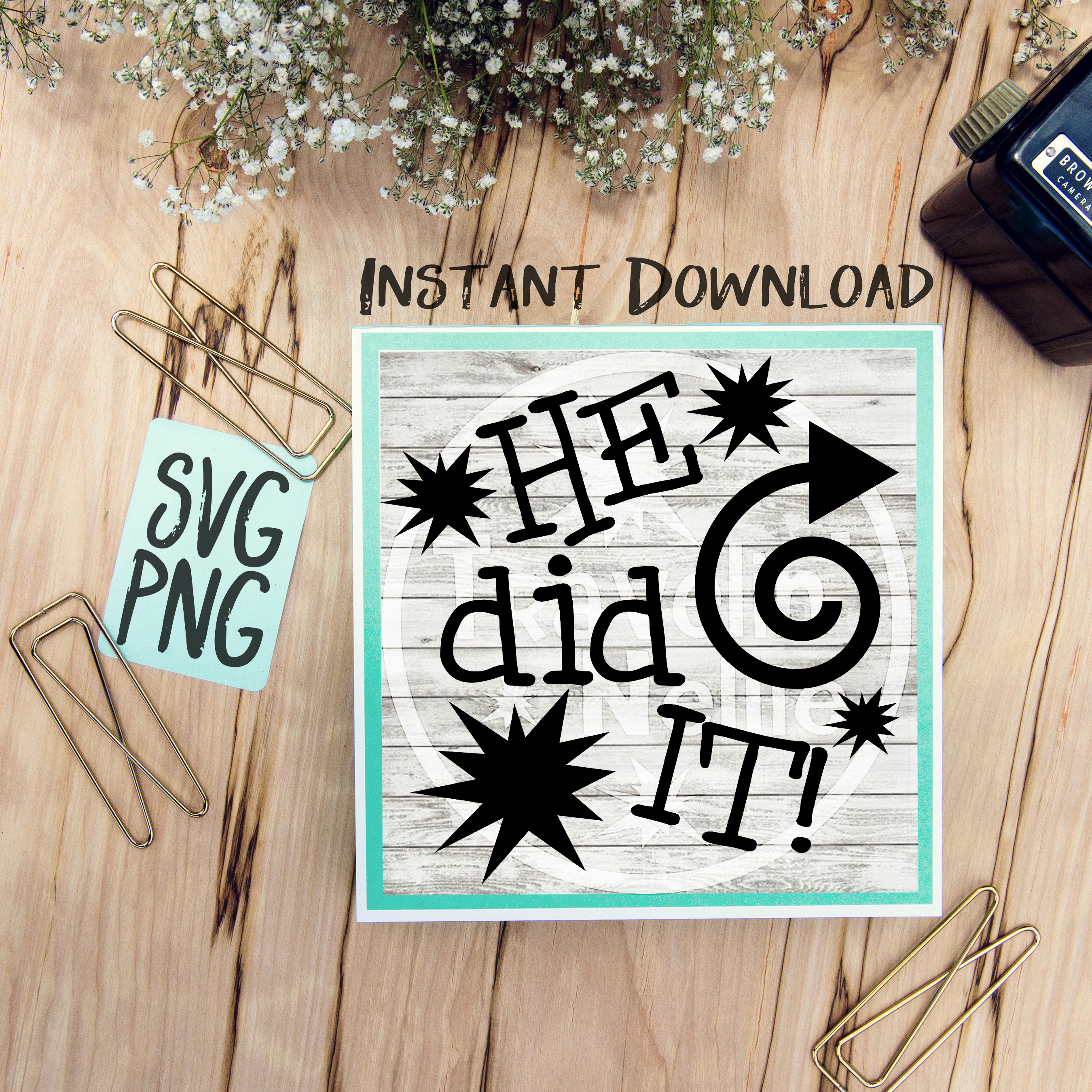 He Did It She Did It Twin Cousin Siblings SVG PNG Image Design for Cut Machines Print DIY Design Brother Cricut Cameo Cutout  example image 2