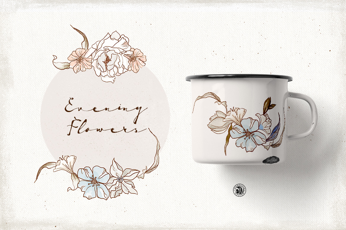 Evening Flowers example image 6