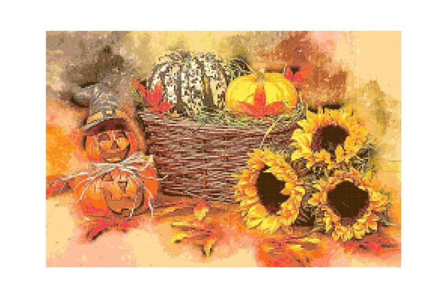Halloween Centerpiece Cross Stitch Pattern example image 1