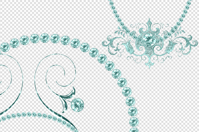 Aqua Diamond Frames Clipart example image 4
