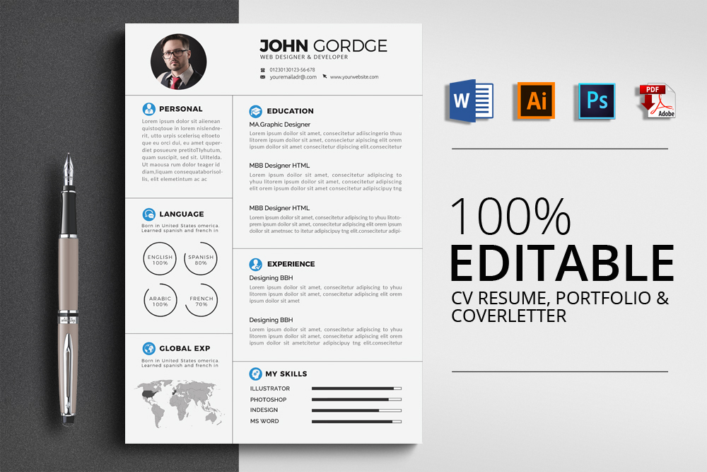 Resume Cv Templates example image 1