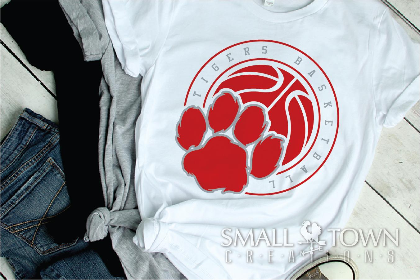 Tigers basketball, tiger mascot, team, PRINT, CUT, DESIGN example image 4