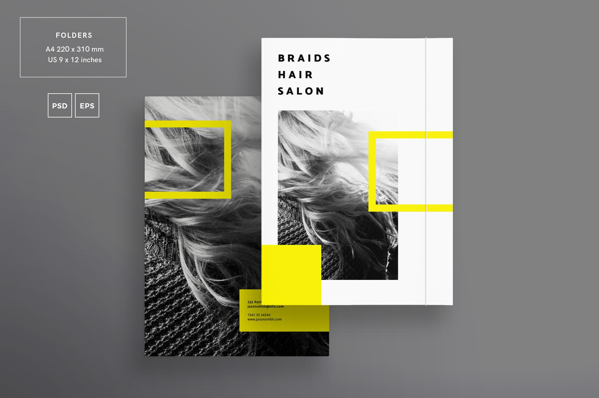 Hair Salon Barbershop Design Templates Bundle example image 6