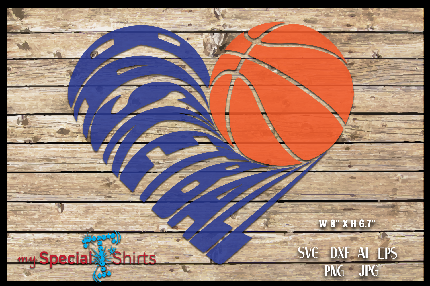 Basketball Heart Cut Out SVG, DFX, EPS, JPG, PNG example image 1