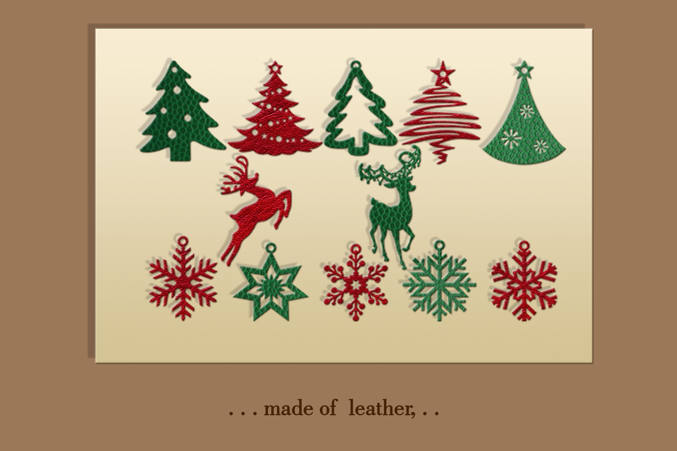 12 Christmas earrings svg Leather earrings svg Necklace svg example image 3