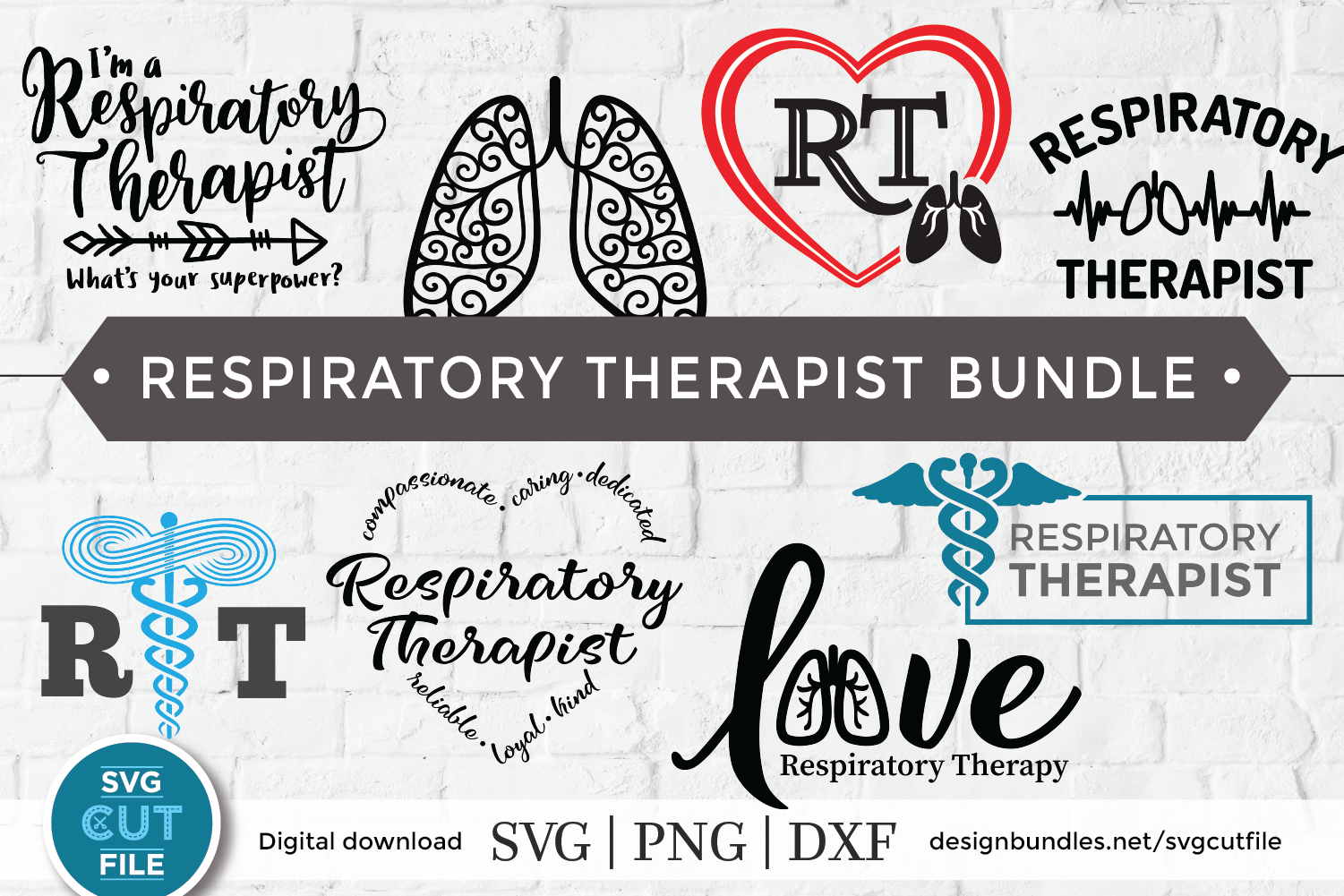Respiratory therapist svg, RT svg, bundle svg for Cricut example image 1