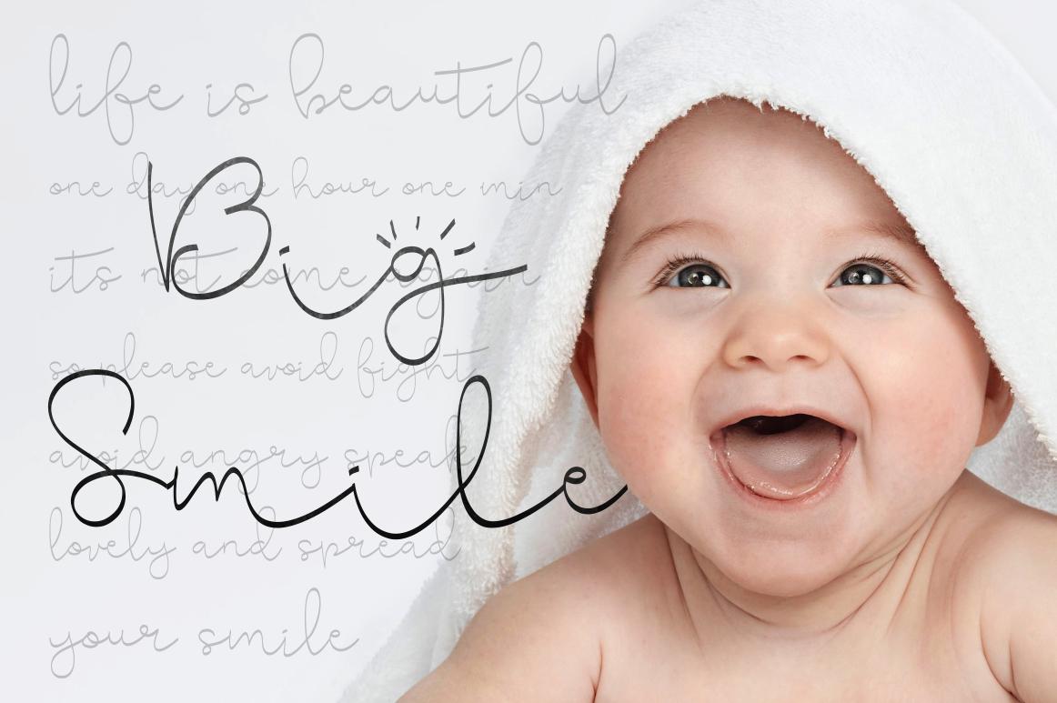 Cute Baby Script example image 4