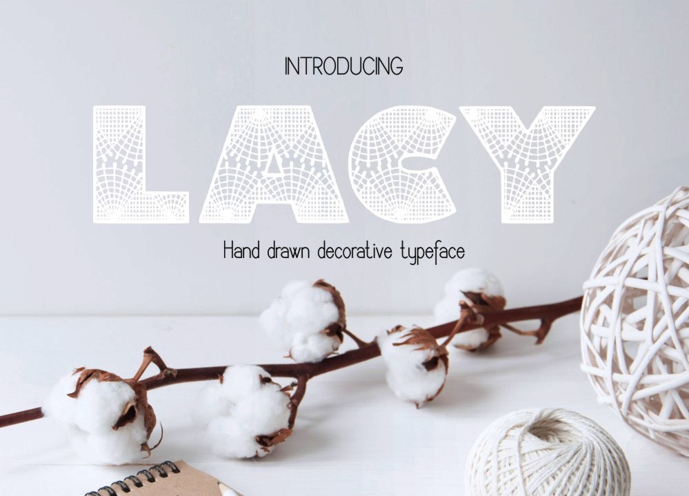 Lacy decorative font example image 4