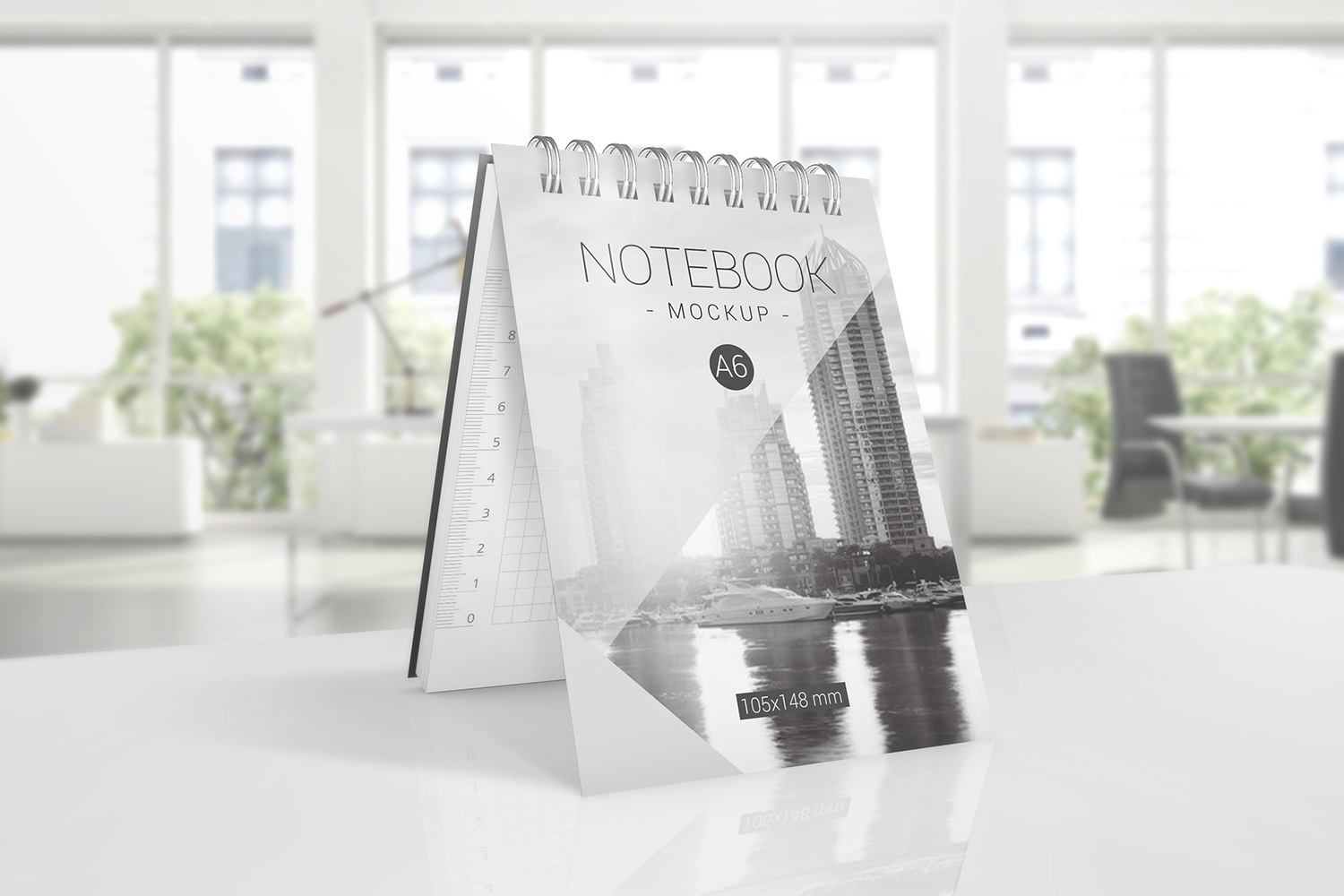 A6 Spiral Notebook Mockups example image 5