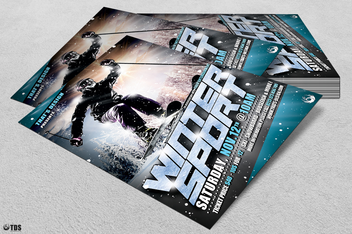 Winter Sports Flyer Template V1 example image 4