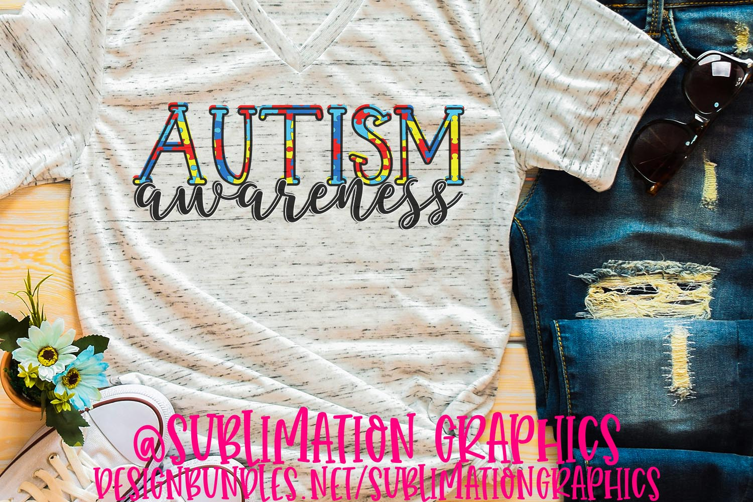 Autism Awareness Sublimation PNG example image 1